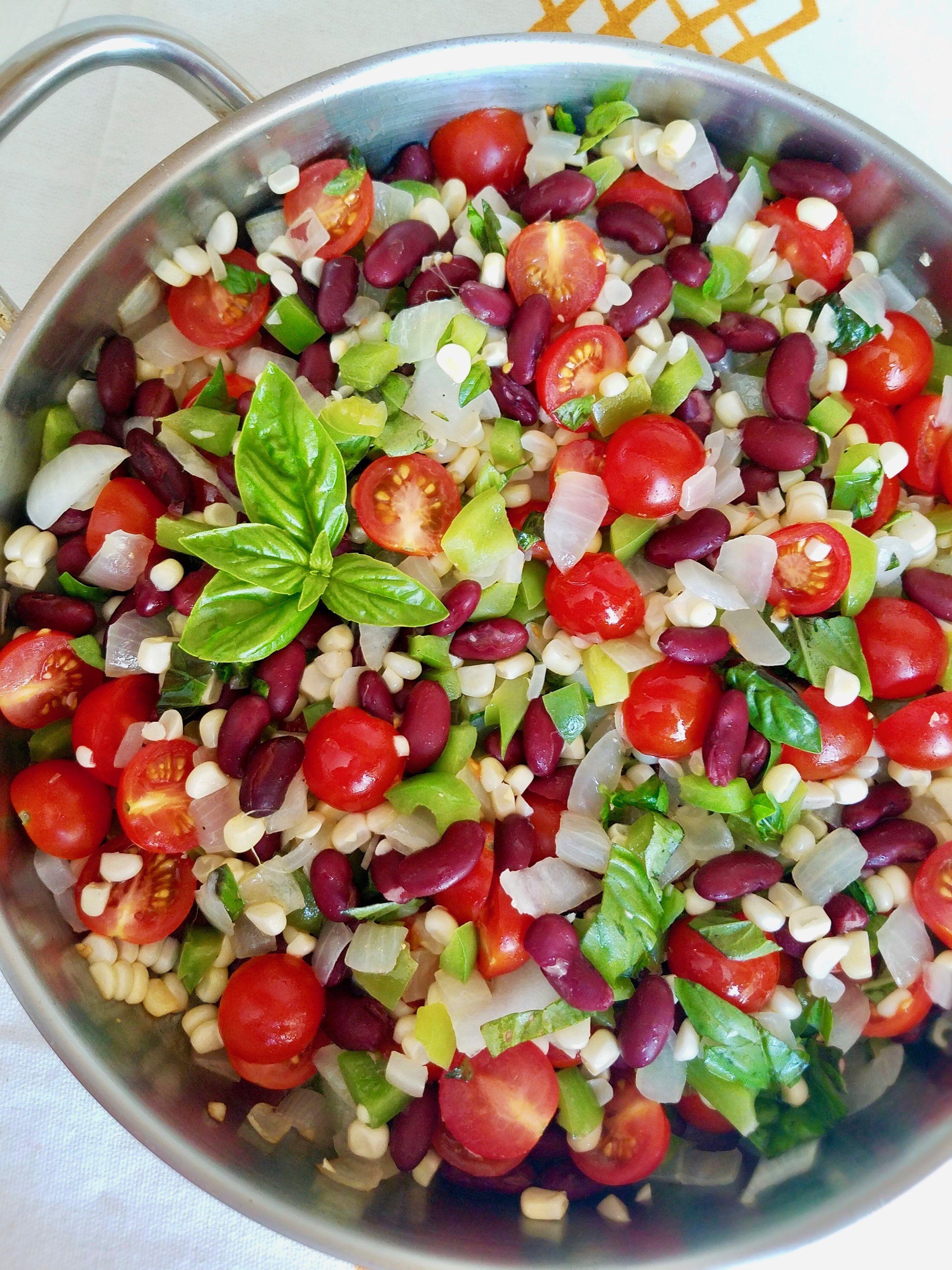 Kidney Bean Succotash Vegan Vegan Side Dishes Vegetable