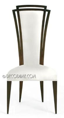 Excellent Art Deco Style High Back Dining Or Accent Chairs Sold Machost Co Dining Chair Design Ideas Machostcouk