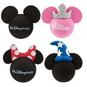 Minnie Head with Disney /& Polka Dots Red Bow Antenna Topper Minnie Mouse