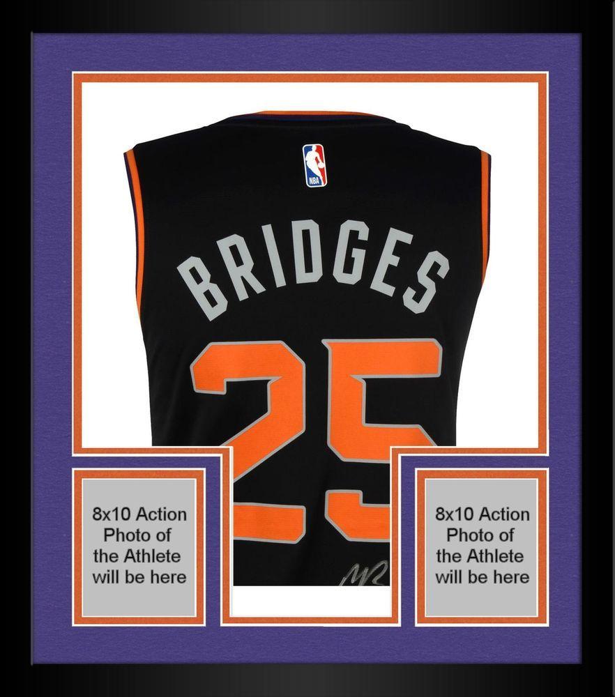 half off 2a297 d5554 Framed Mikal Bridges Phoenix Suns Autographed Fanatics Black ...