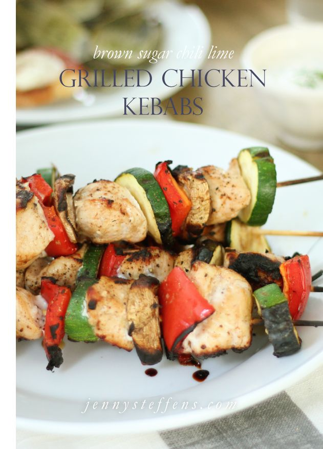 Brown Sugar Chili Lime Grilled Chicken and Vegetable Kebabs