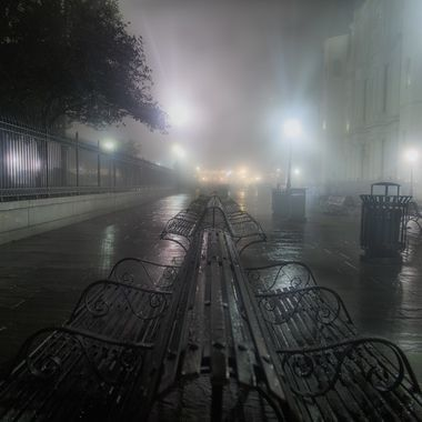 """""""Foggy night in the French Quater"""" by Sheepdog is in the running to win Rainy Streets Photo Contest photo contest at ViewBug.  Rock the vote, and give this image a leg up!"""