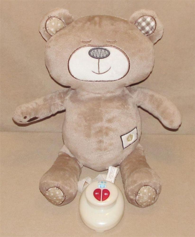 Crib toys babies r us - 2013 Babies R Us Brown Soothe N Sounds Sleeper Teddy Bear Musical Crib Toy Baby