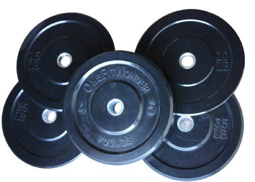 4bb07c248bb 160 Lbs New Bumper Plates Set Olympic Plates Solid Plates Weight Plates for  Crossfit Training Weight Lifting Gym... - List price   400.00 Price   269.00