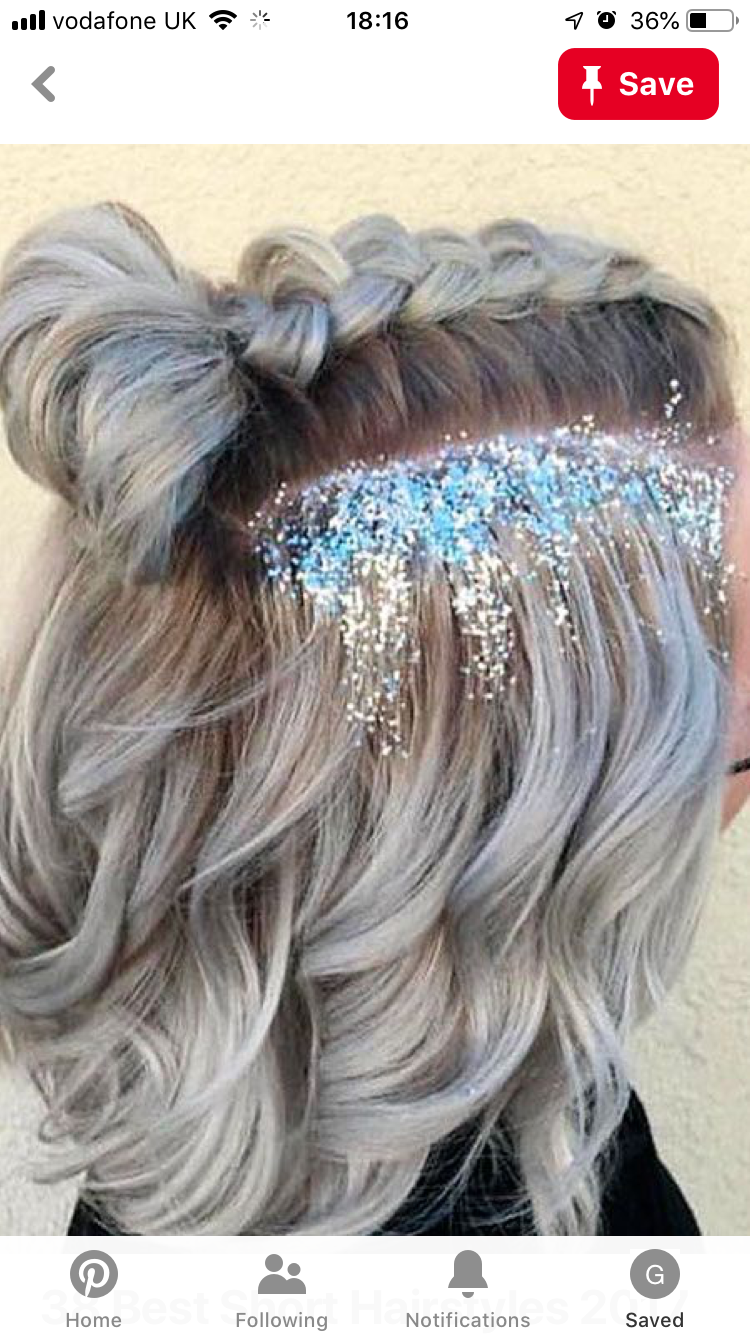 But No Glitter Gross In 2020 Prom Hairstyles For Short Hair Hair Styles Short Hair Styles