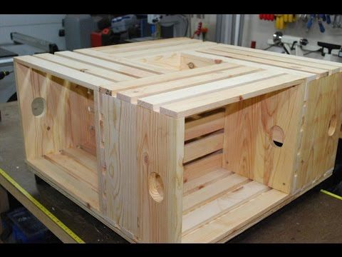 this crate coffee table project was cheap, fun, and easy to make