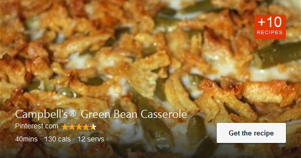 This traditional casserole made with cut green beans, cream of mushroom soup, an...