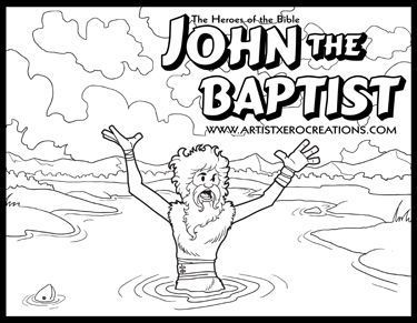 The Heroes Of Bible Coloring Pages John Baptist Matthew 3 Mark