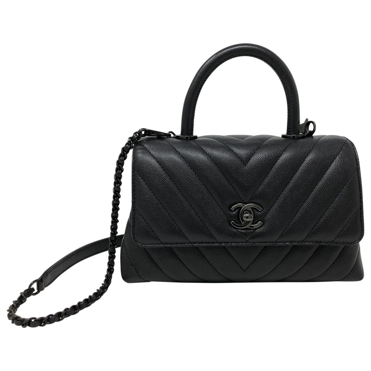 Leather Handbag Chanel Chanel Handbags Chanel Handbags Black Bags