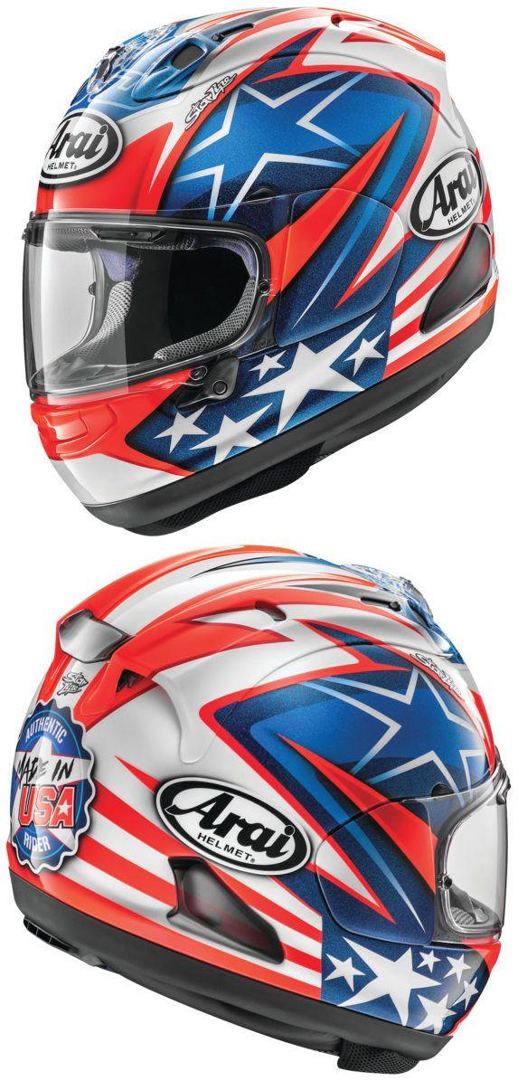 8066b109 The Arai Corsair-X Nicky-7 Helmet was designed to commemorate MotoGP World  Champion