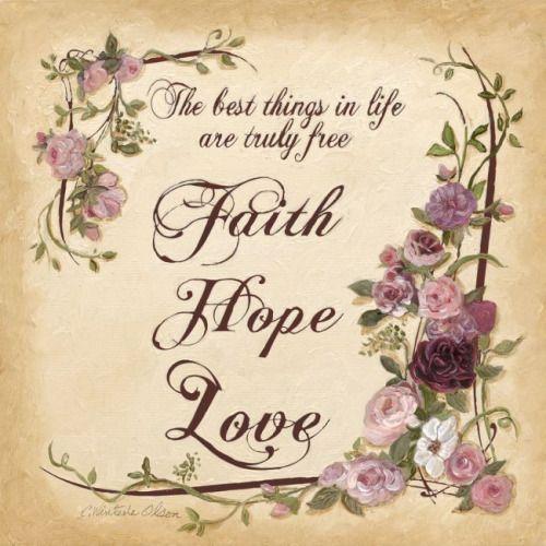 Glaube, Hoffnung und Liebe