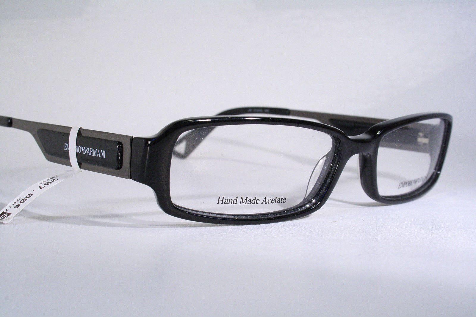 723ba394c1 EMPORIO ARMANI New Women s Black Rectangular Eyeglass Frames Glasses  Readers