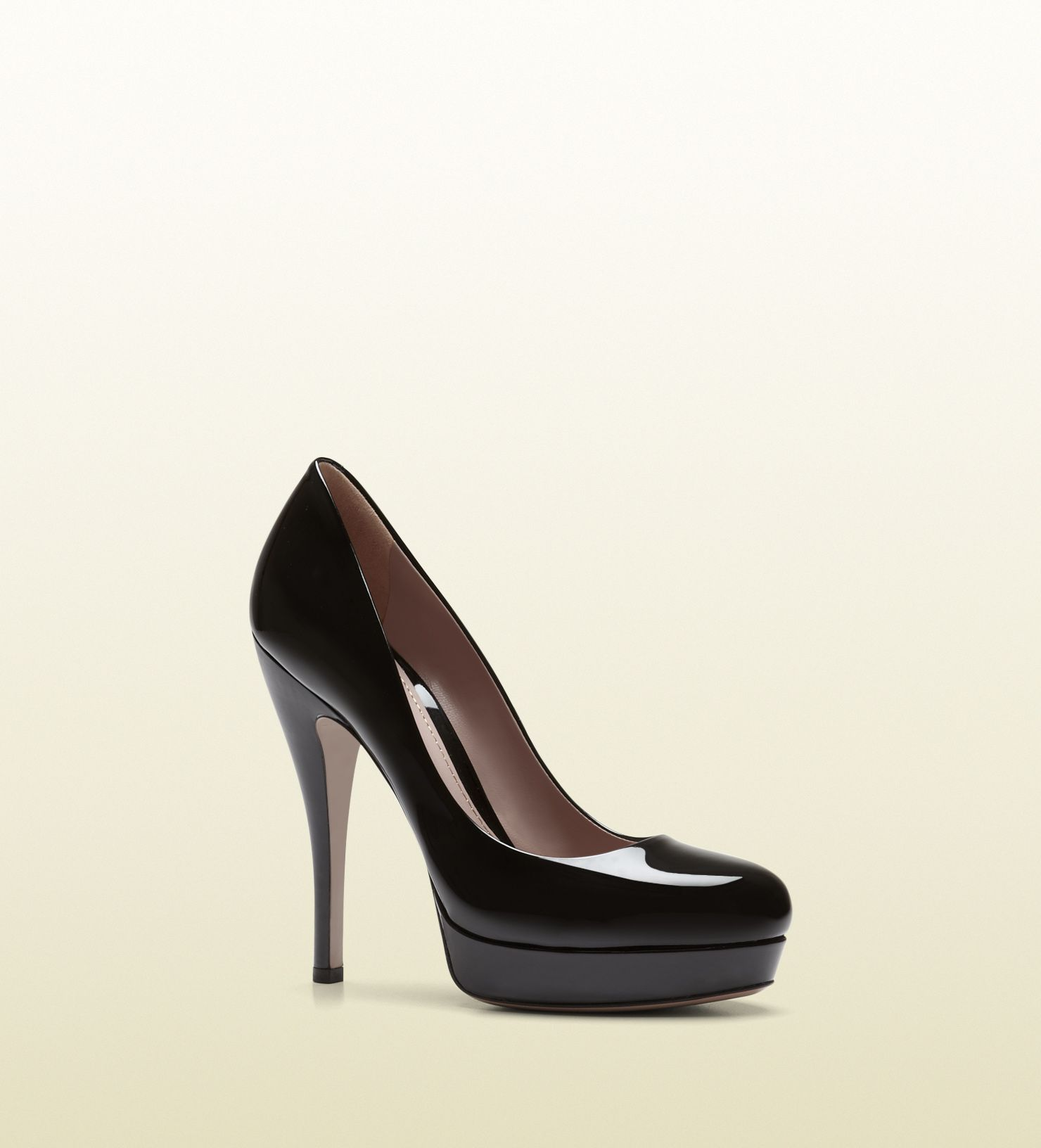 40e1a930c44 Gucci black patent leather platform pump Fall 2013