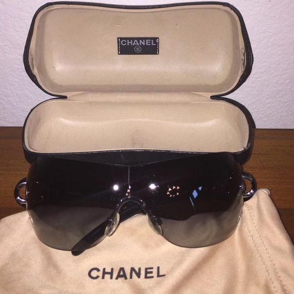 1d920508cb14 Chanel Sunglasses style 4145 Shield Gently used. CHANEL Accessories  Sunglasses