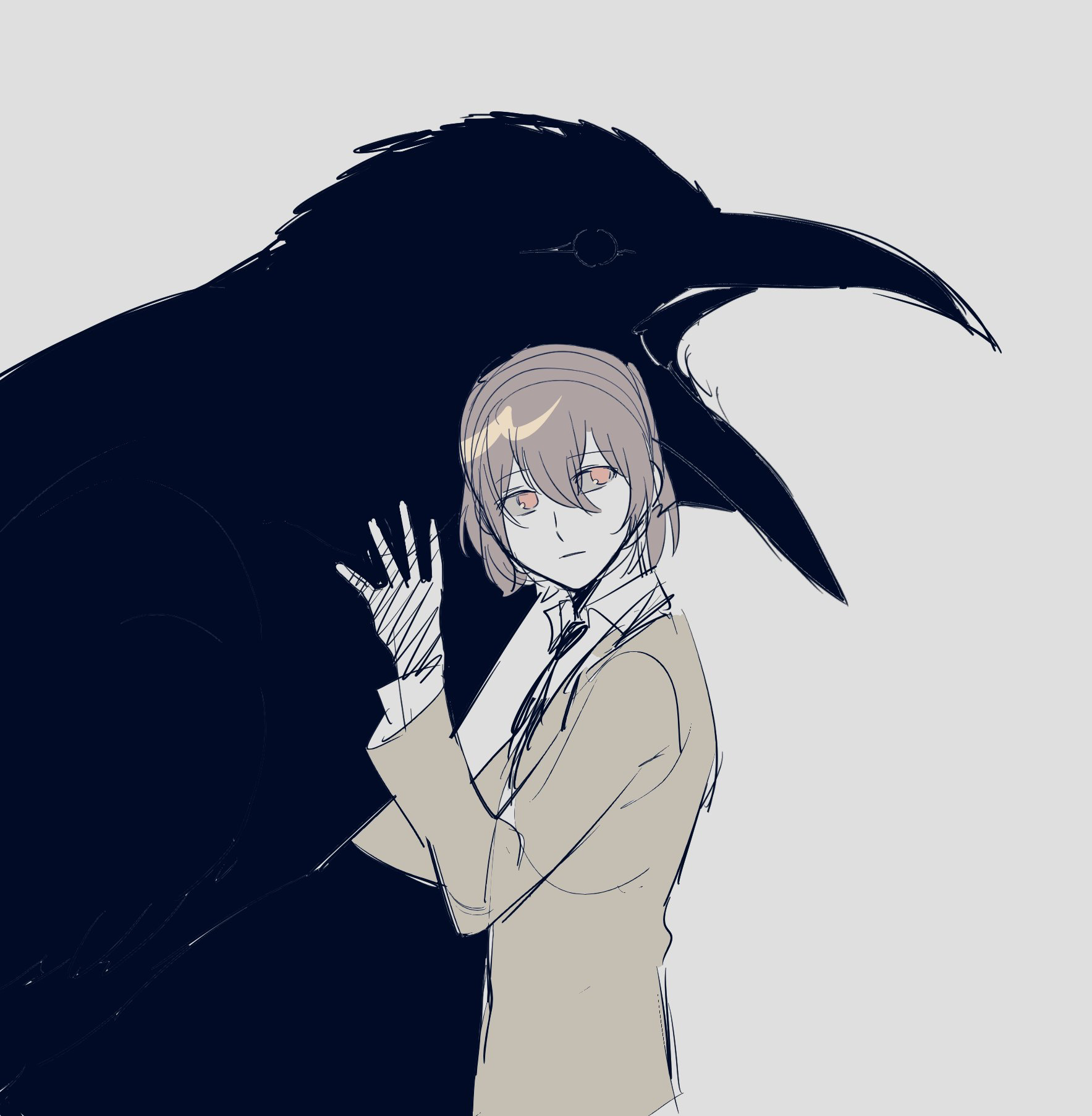 Crows are creepy. They remind me of those plague doctors
