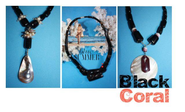 """@BlackCoral4you BLUE-BLACK SUMMER"" by blackcoral4you on Polyvore featuring moda https://blackcoral4you.wordpress.com/necklaces-io-collares/stock/ pendientes de coral negro, cuentas, collares, joyeria hecha a mano  mail: blackcoral4you@galicia.com Galicia - SPAIN 100% HandMade #necklaces #coral #necklaces #joya #beads  #black #jewellery #brazaletes #diy #cuentas #corail #corallo #natural #925 #sterling #DIY #zuni #gioielli #korali #natural #bijoux #rouge #noir #silver #summer #fashion #cool"