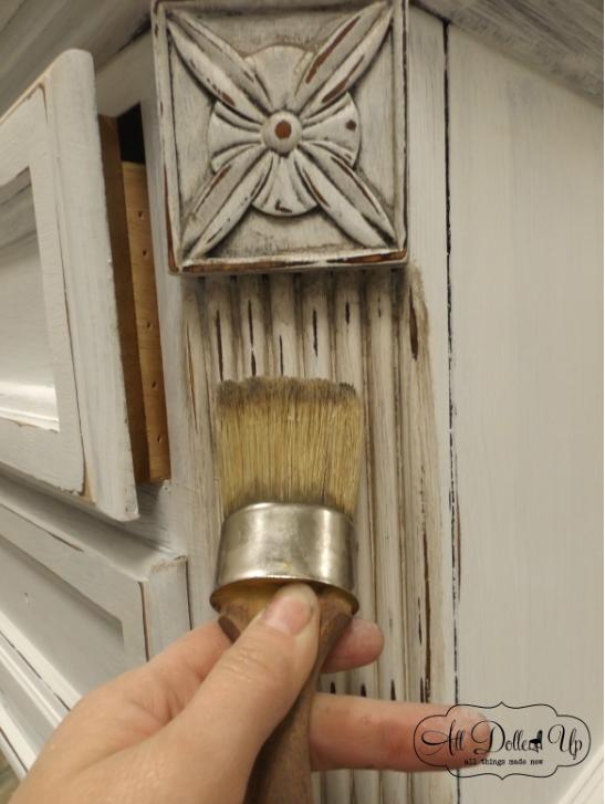 #antiquingwax blending Milk Paint Furniture, Furniture Wax, Furniture  Makeover, Painted Furniture, - Miss Mustard Seed's Antiquing Wax In 2018 Wax On, Wax Off