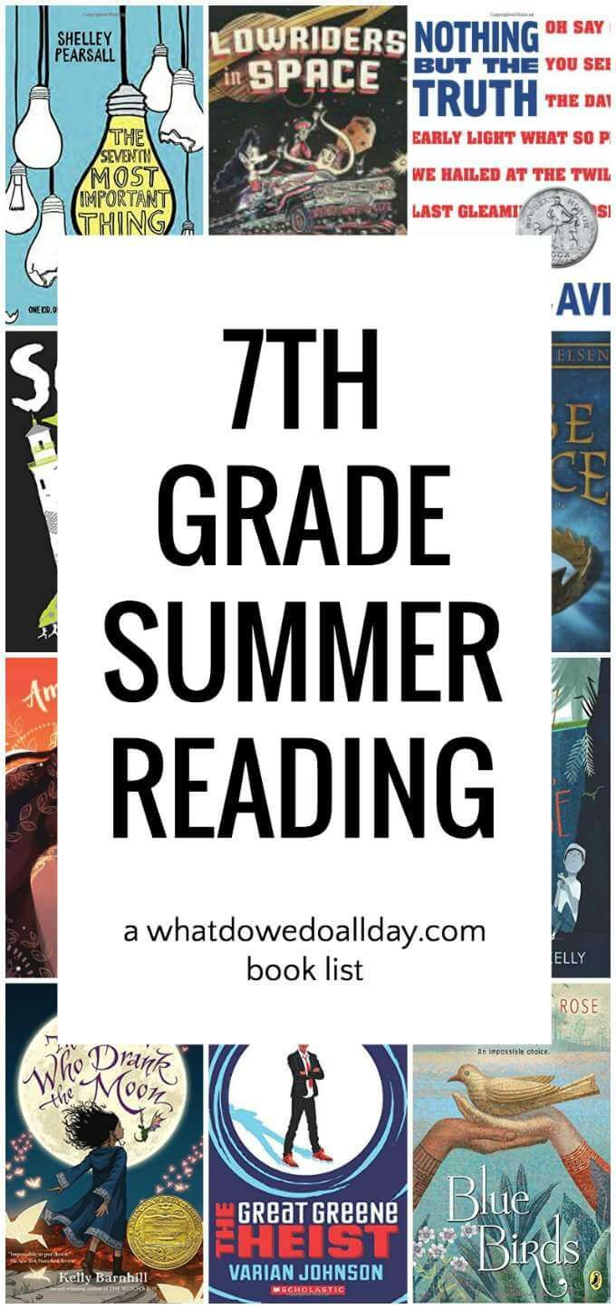 Diverse 7th Grade Summer Reading List What Do We Do All Day