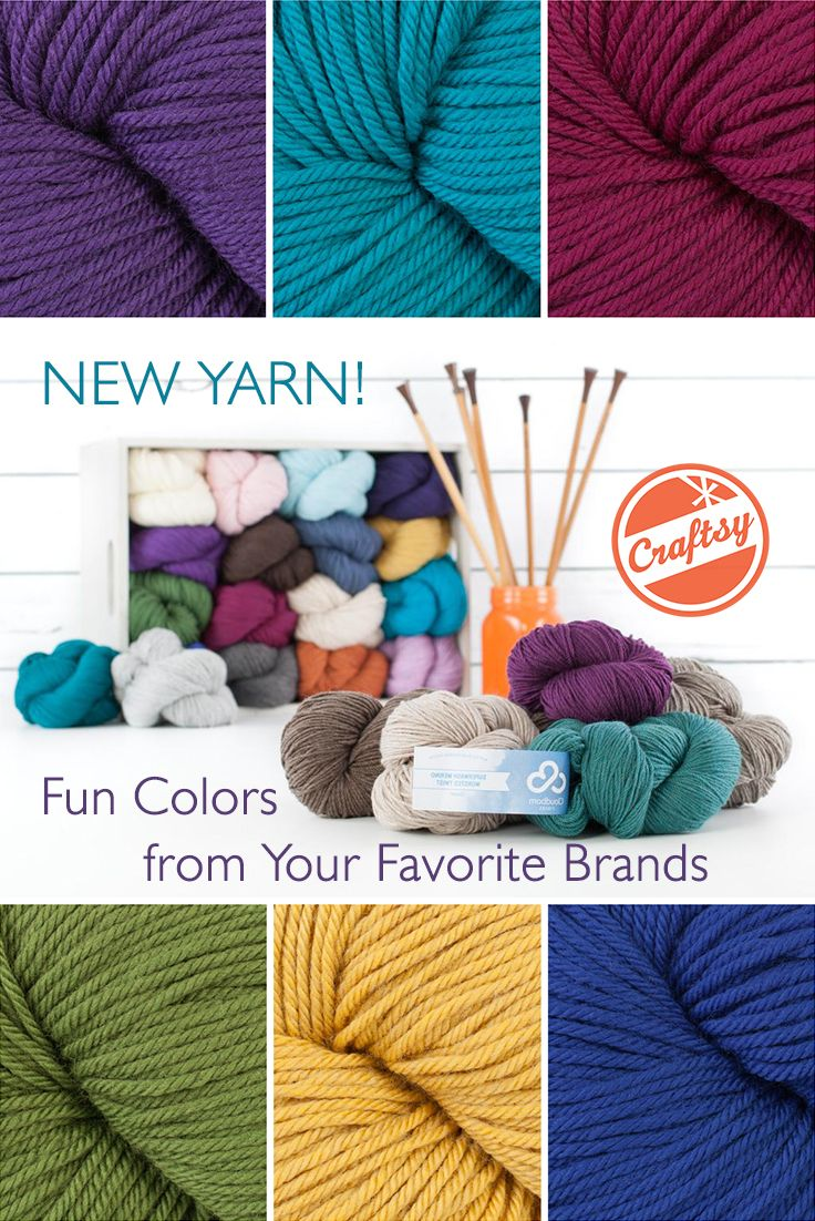 Just in! Be the first to browse new colorful yarns for the win. What colors will you use in your next project?