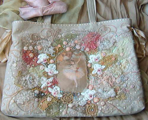 https://flic.kr/p/7tEnNt | Hand embroidered linen bag | Not of my newest work- created about 2005' - one of the largest bags I have made. ( 60x80cm) Entirely hand embroidered and beaded front took me about a month to complete. The bag was made as a gift.