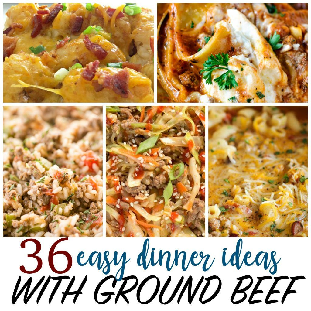Cheap Recipes 36 Things To Make With Ground Beef Dinner With Ground Beef Cheap Easy Meals Beef Dinner