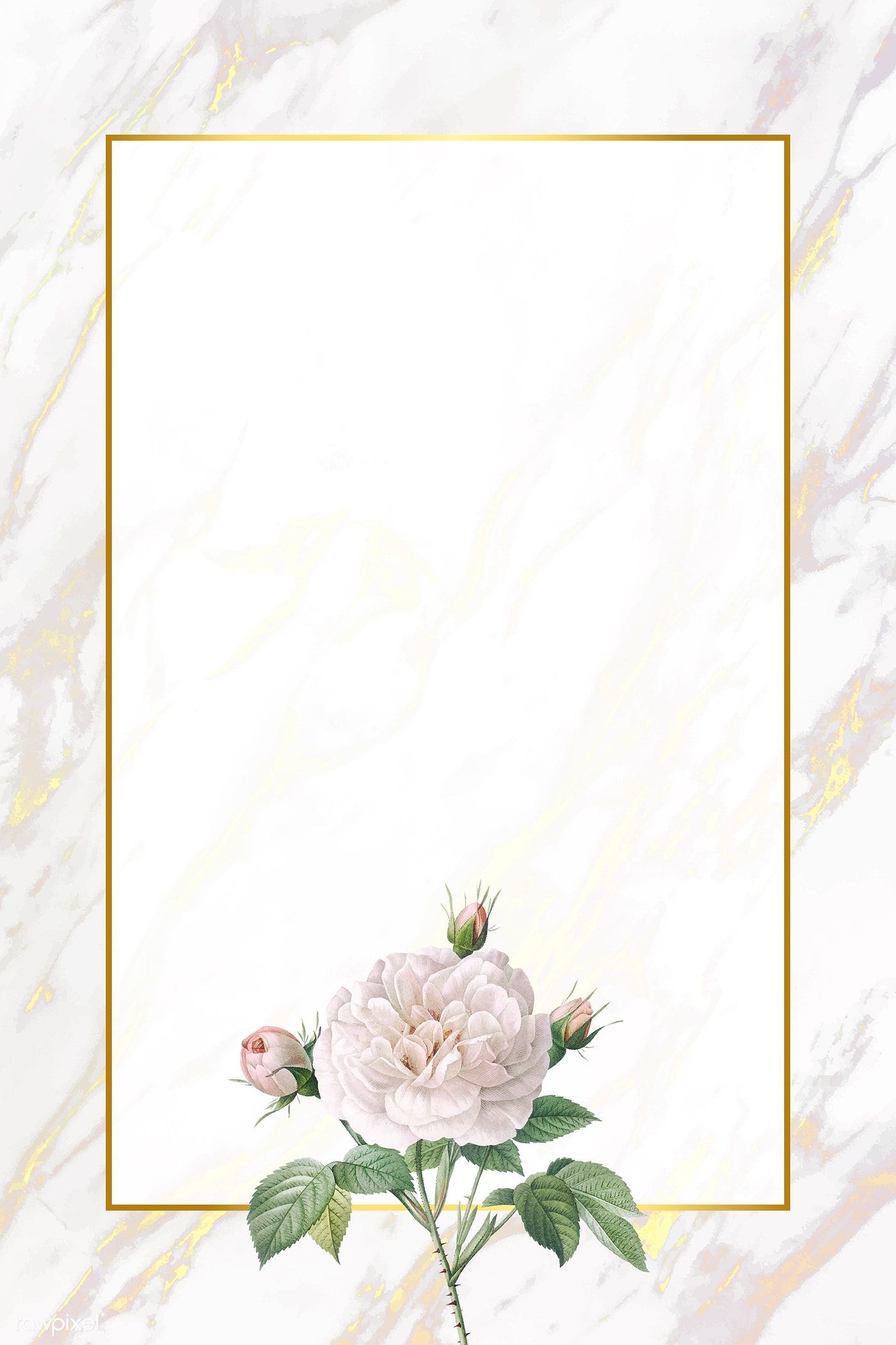 Download Premium Vector Of White Flower Element On Marble