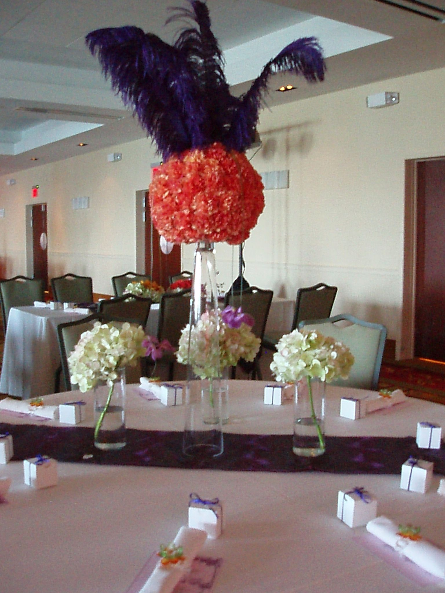 Purple -orange wedding