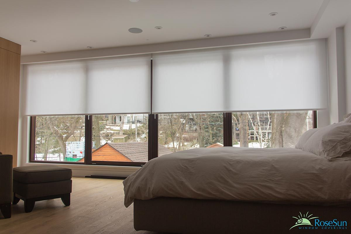 Rose Sun Window Coverings Specializes In Motorized Roller Shades And Blinds Toronto