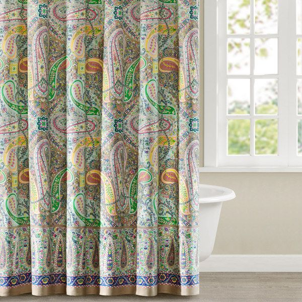 Echo Design Scarf Paisley 72 Inch X 72 Inch Shower Curtain Bed