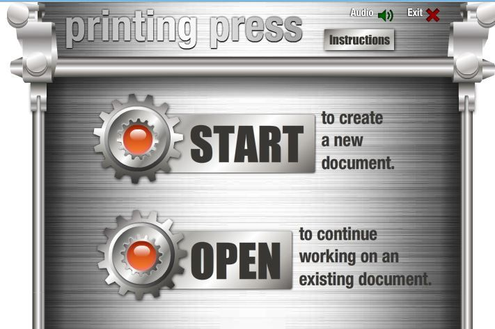 Readwritethink Printing Press Designed To Assist Students In