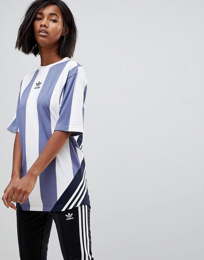 Adidas adidas Originals Nova Goalie T-Shirt In Blue And White ... 64ab9cd42