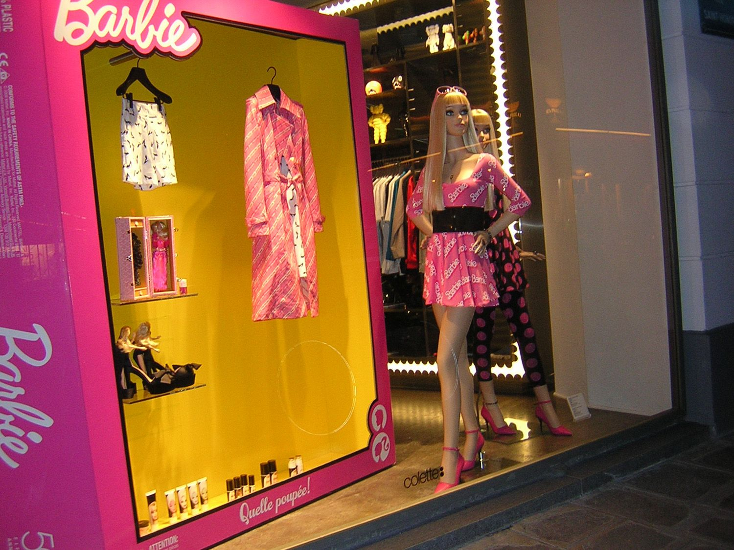 Barbie at Colette, Paris.  Courtesy of www.fashionwindows.net