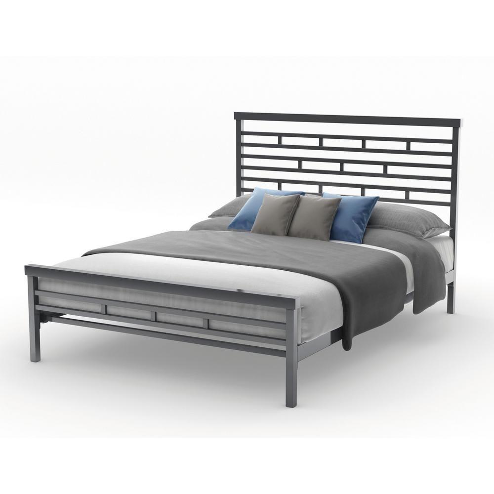 Amisco Highway Textured Dark Brown Metal Full Size Bed 14379 54 75
