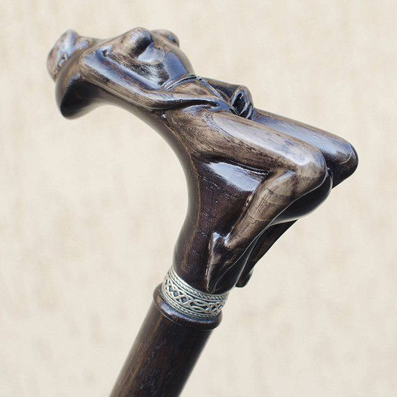 #39 Hand Carvin Canes Walking Sticks Wooden Unique Handmade Cane Hiking