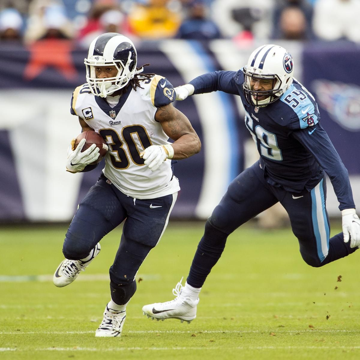 Todd Gurley Joins Multiple Elite Clubs With Week 16 Showing Todd Gurley Elite Tennessee Titans