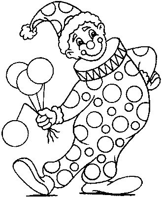 clown coloring pages . print