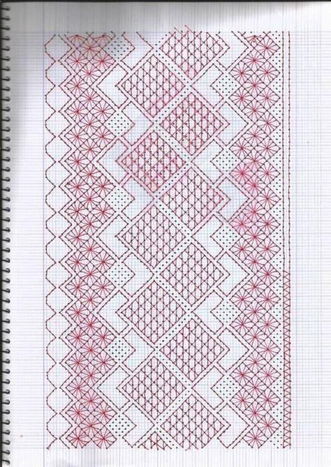 Resultado de imagen para hardanger patrones gratis | bolillos ...