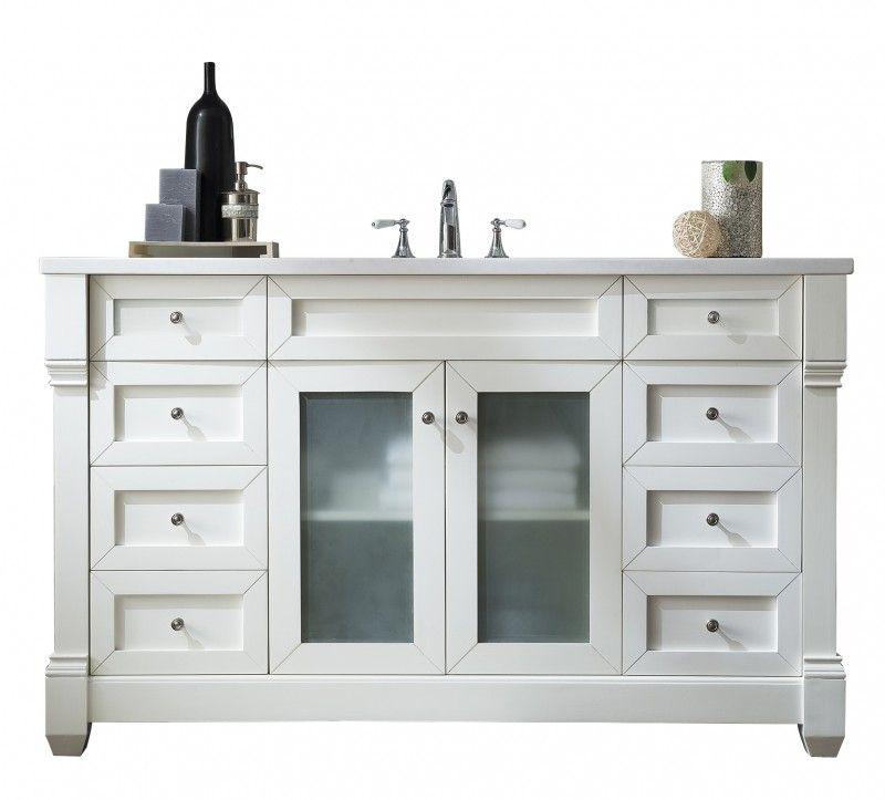 James Martin Weston Collection 60 White Vanity Bathroom Single Sink Bathroom Vanity Single