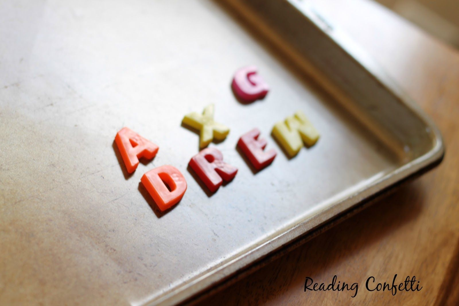 Making Words With Magnetic Letters