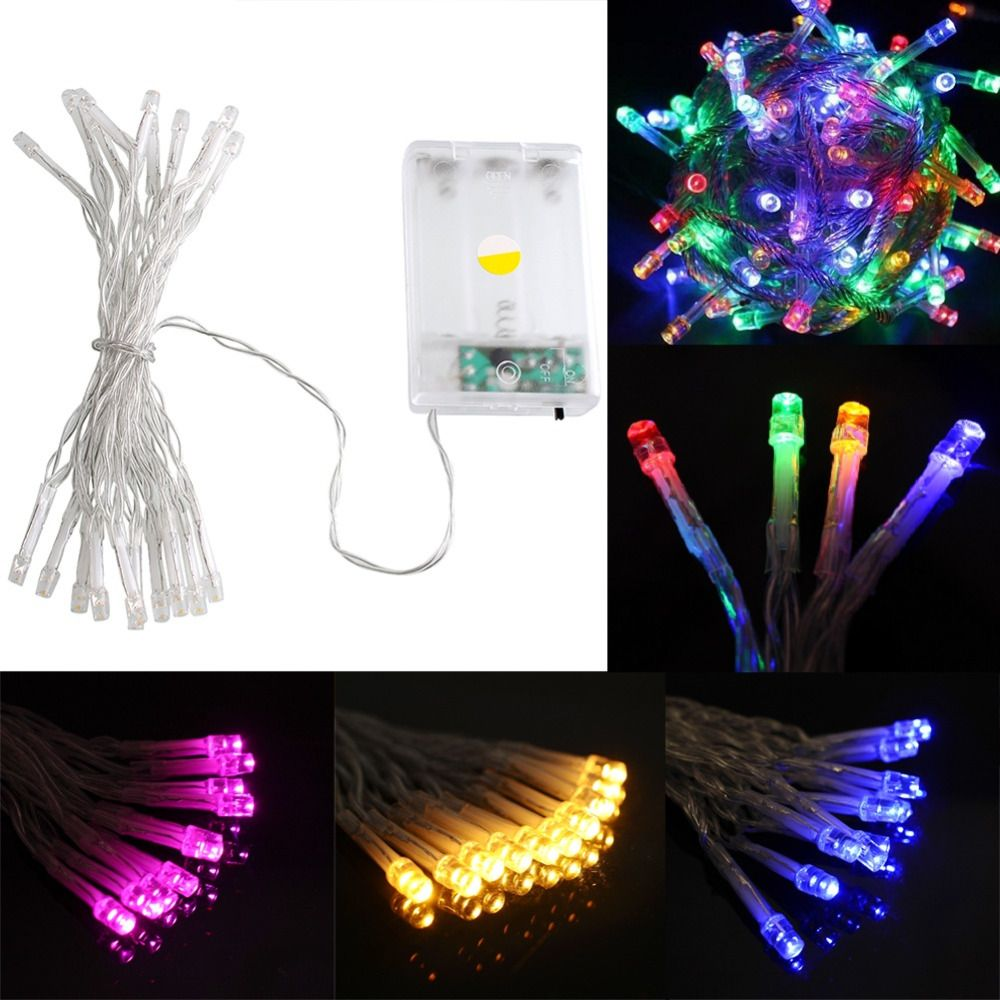 Party garden outdoor decor 2m 20 led lamp powerd bright string party garden outdoor decor 2m 20 led lamp powerd bright string christmas tree decor battery operated mozeypictures Gallery