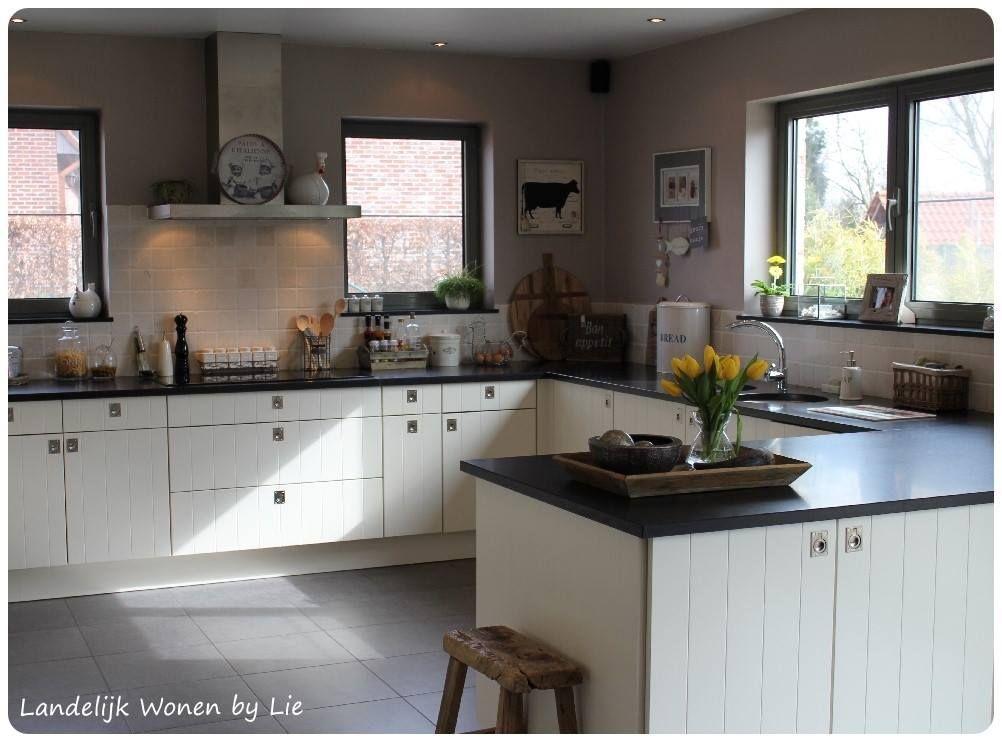Modern landelijke keuken kitchen pinterest kitchens and decoration - Keuken back bar ...
