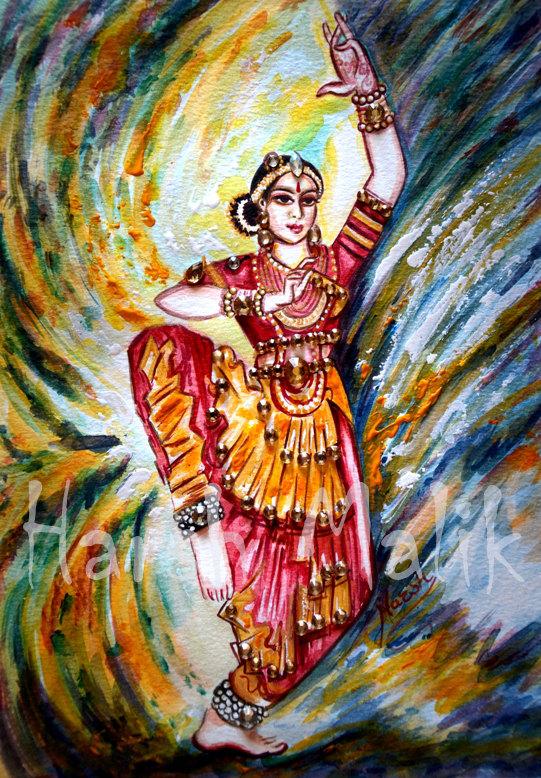 bharatanatyam dance painting - photo #11