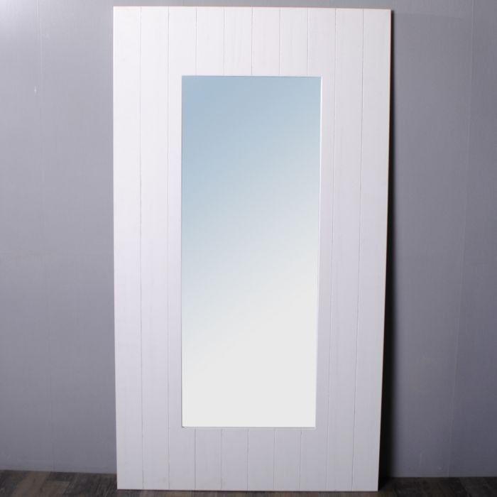 Details zu Wandspiegel Landhaus 180x100cm Spiegel weiß Shabby Chic ...