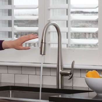 EFoodie Hands Free, Pull Down Kitchen Faucet By Danze With LED Task Light Hands  Free Operation With The Wave Of A HandUnique And Convenient LED Task ...