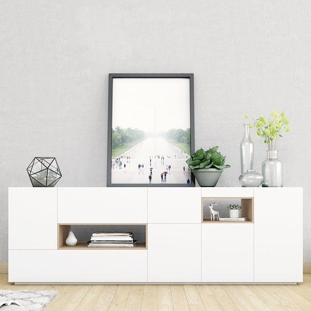Mueble televisión minimalista - Aparador Daniela House - mueble minimalista