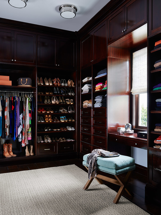 Built In Closet Cabinets Transitional Closet Andrew Howard