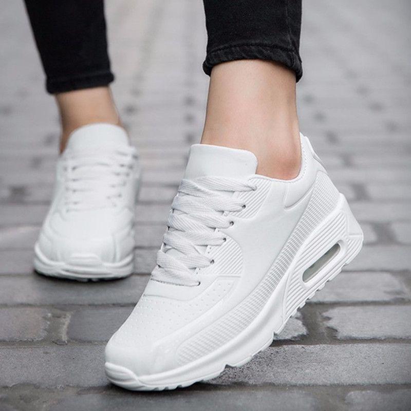 Wiosna Kobiet Przyczynowe Buty Sportowe Oddychajace Trenerow Rozmiar 35 40 Rozowy Plaskim Z Buty D Sports Shoes For Girls Black And White Shoes Womens Sneakers