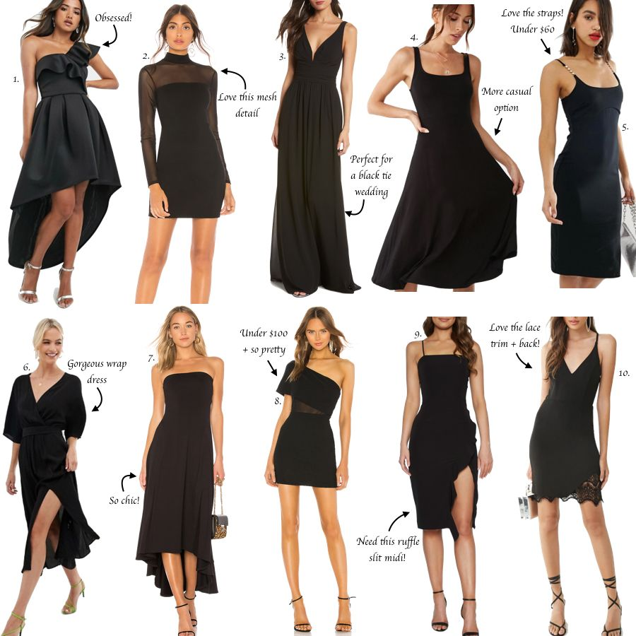 4 Black Dresses for a Wedding Guest  The Miller Affect  Casual