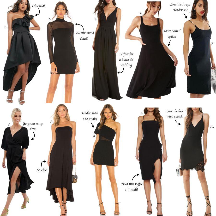 30 Black Dresses For A Wedding Guest The Miller Affect Casual Wedding Attire Fancy Black Dress Cocktail Attire