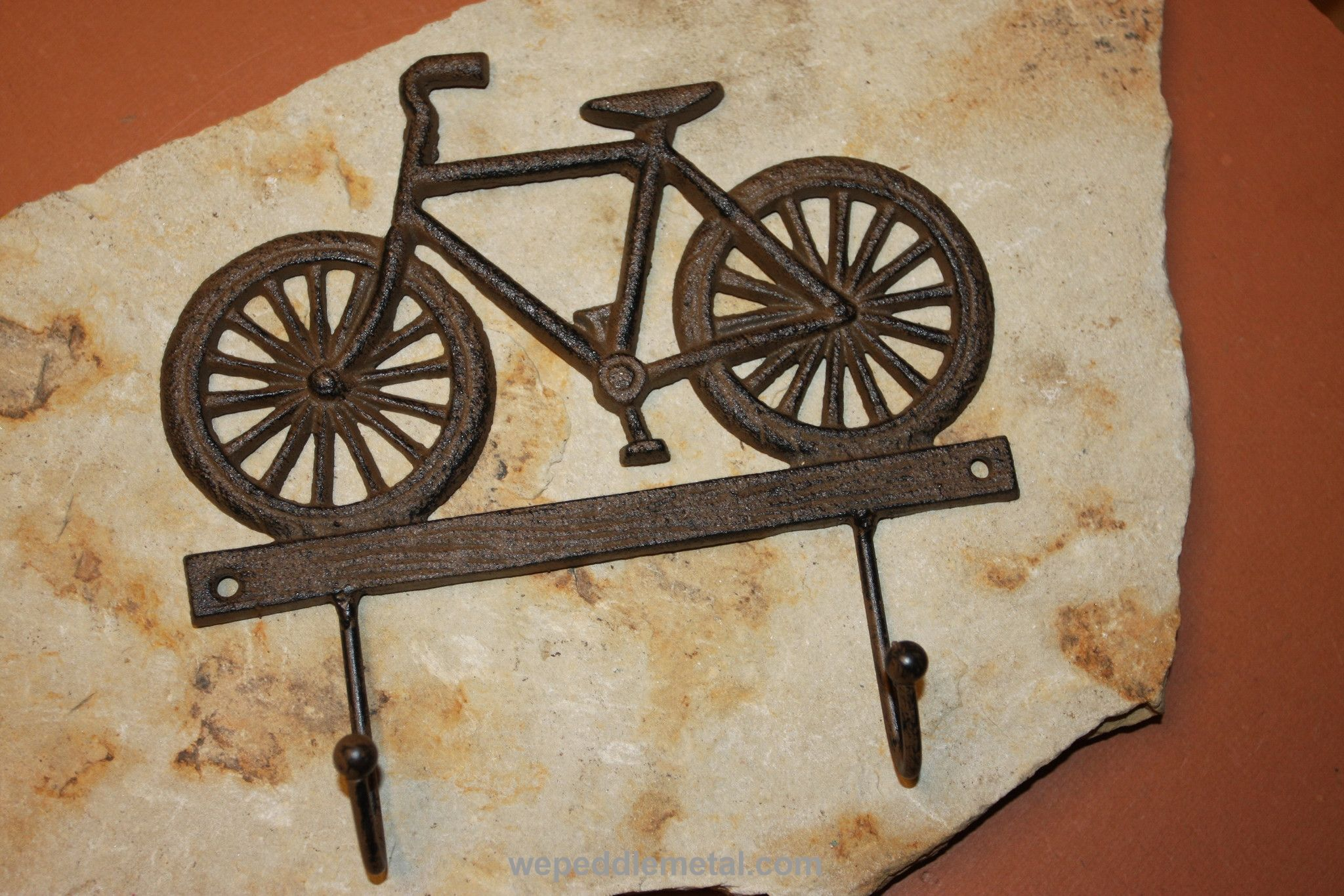 Vintage Look Bicycle Wall Hook, Cast Iron Bicycle Decor, 7,